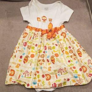 Cutest little handmade fall dress!